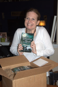 Look what arrived on my doorstep tonight...a box from the publisher...author copies of my novel!  I'm a little bit excited. Surreal. ~Cricket